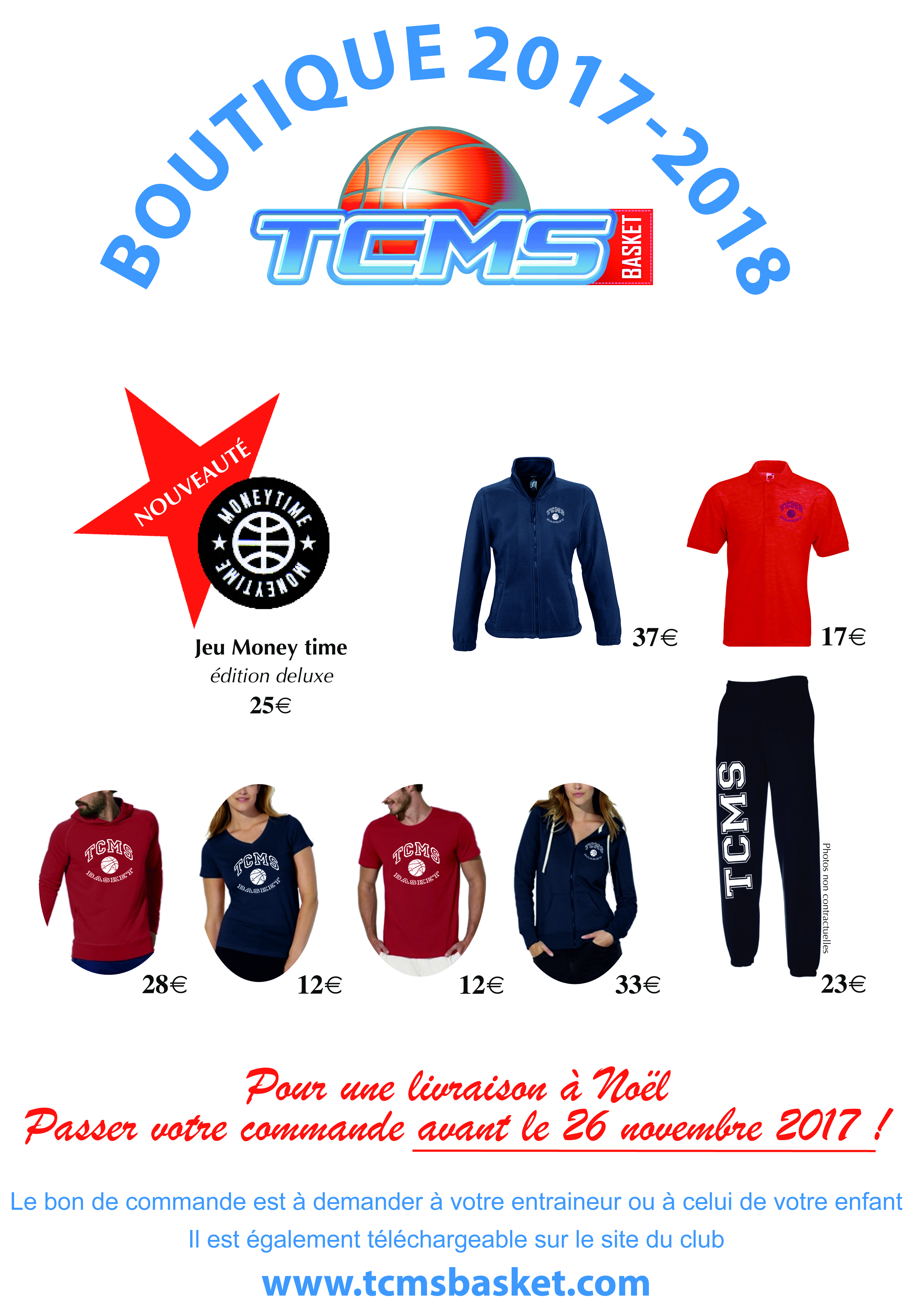 Affiche boutique tcms basket