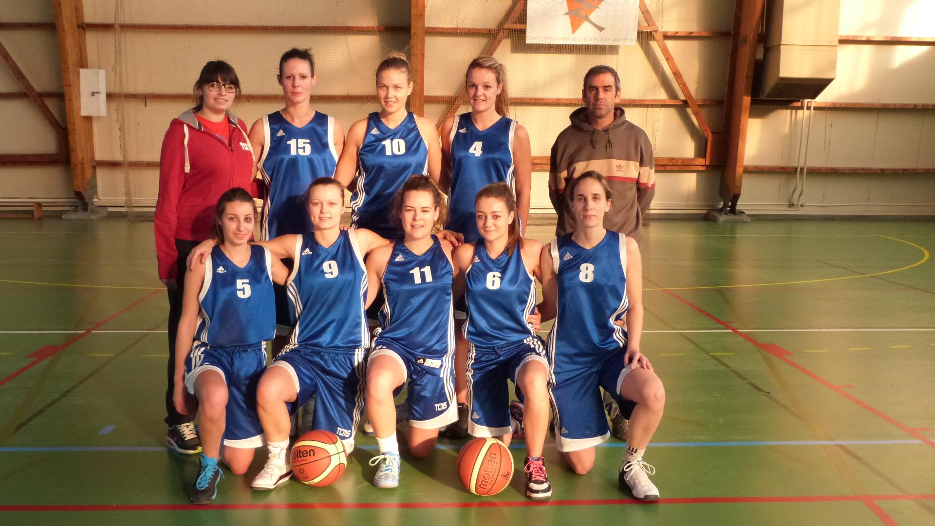 Photo d'équipe seniors filles 1 / Saison 2015-16