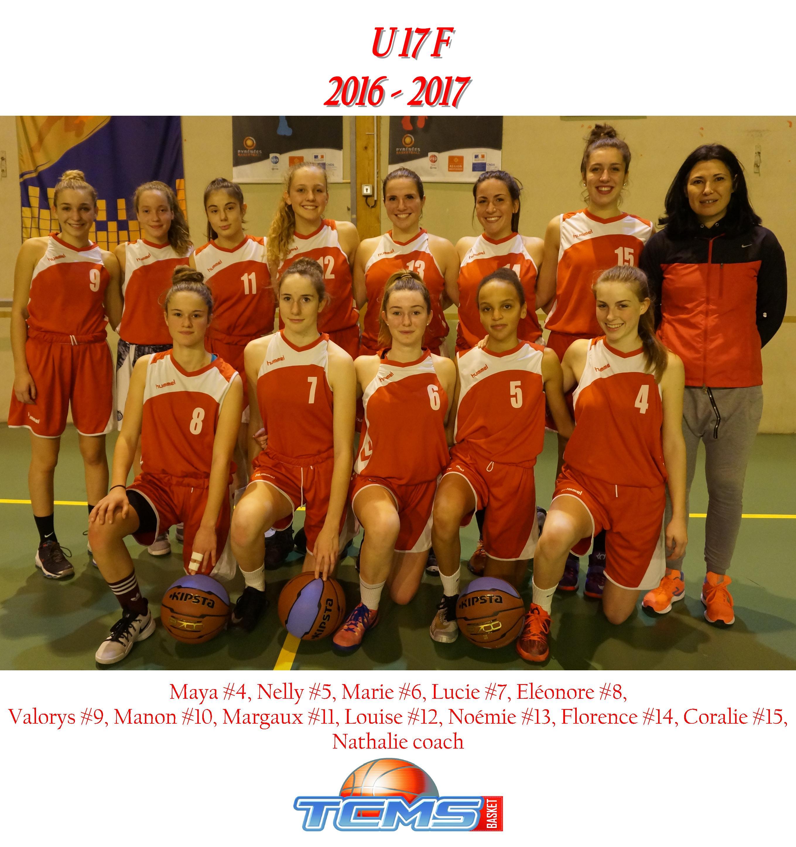 Photo Équipe U17F / Saison 2016-2017