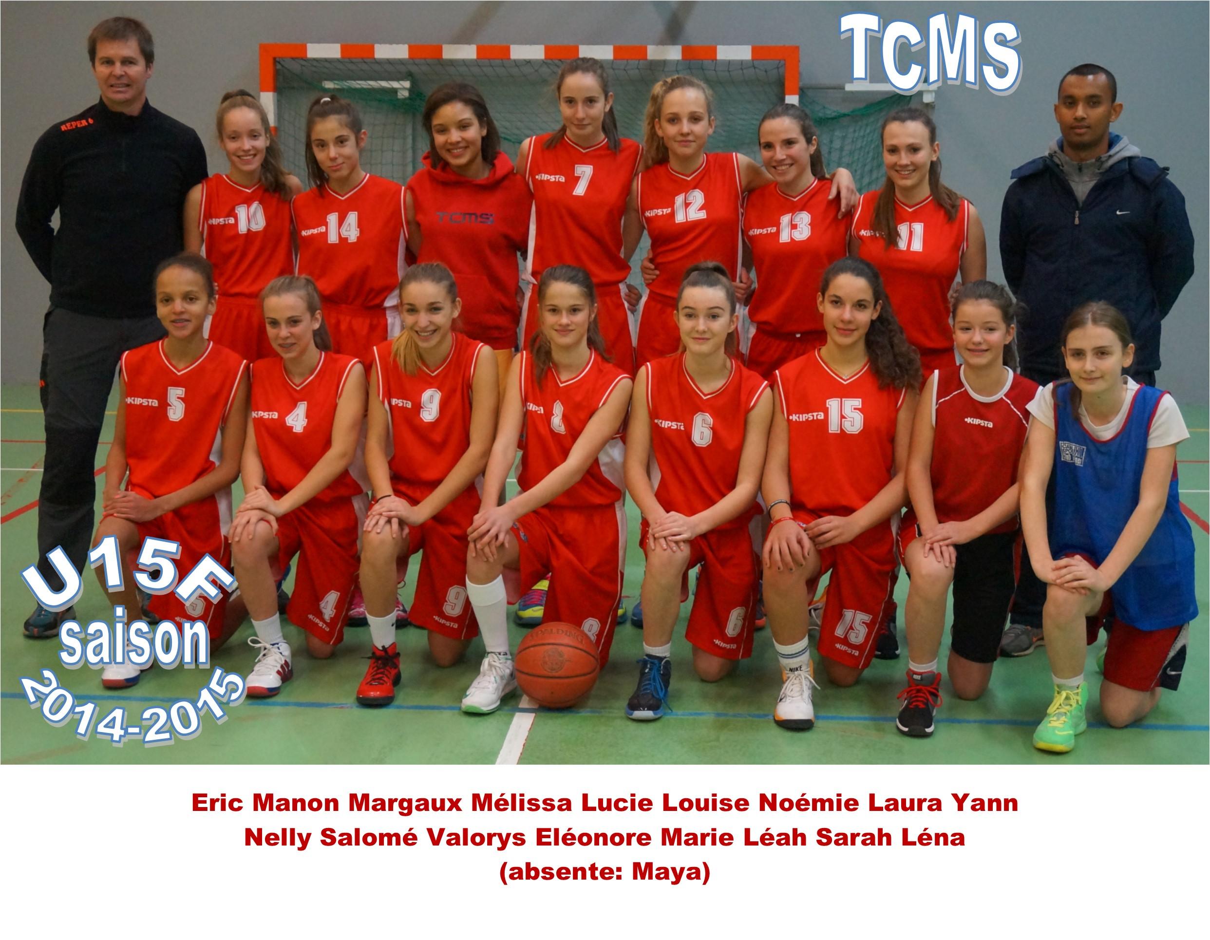 Photo Equipe U15F / Saison 2014-2015