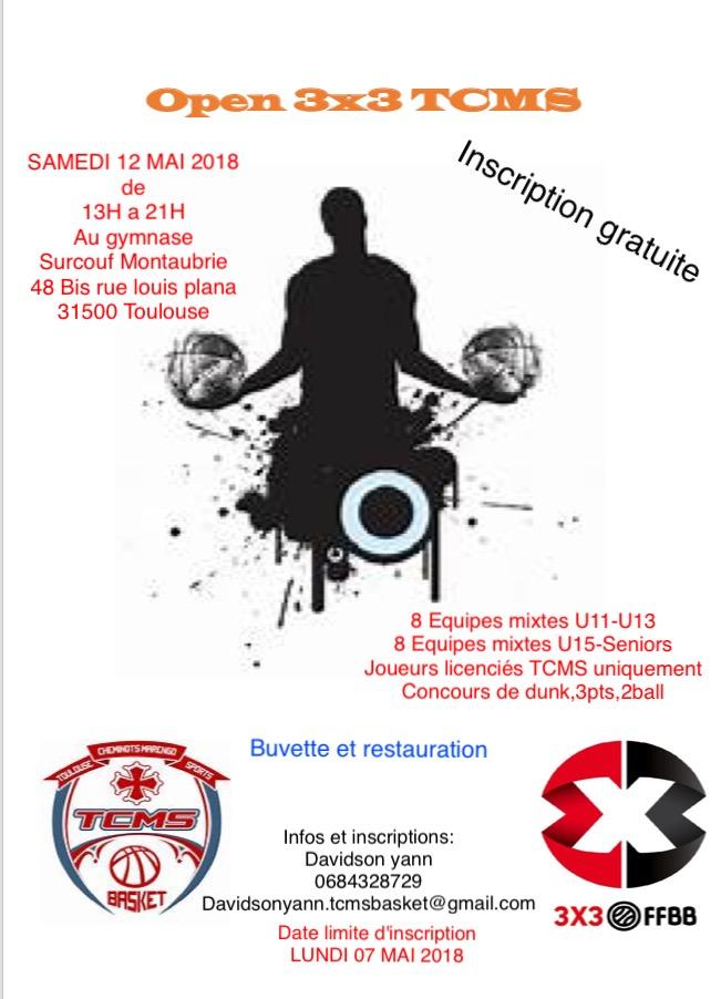 Affiche Tournoi 3x3 du 12 mai 2018