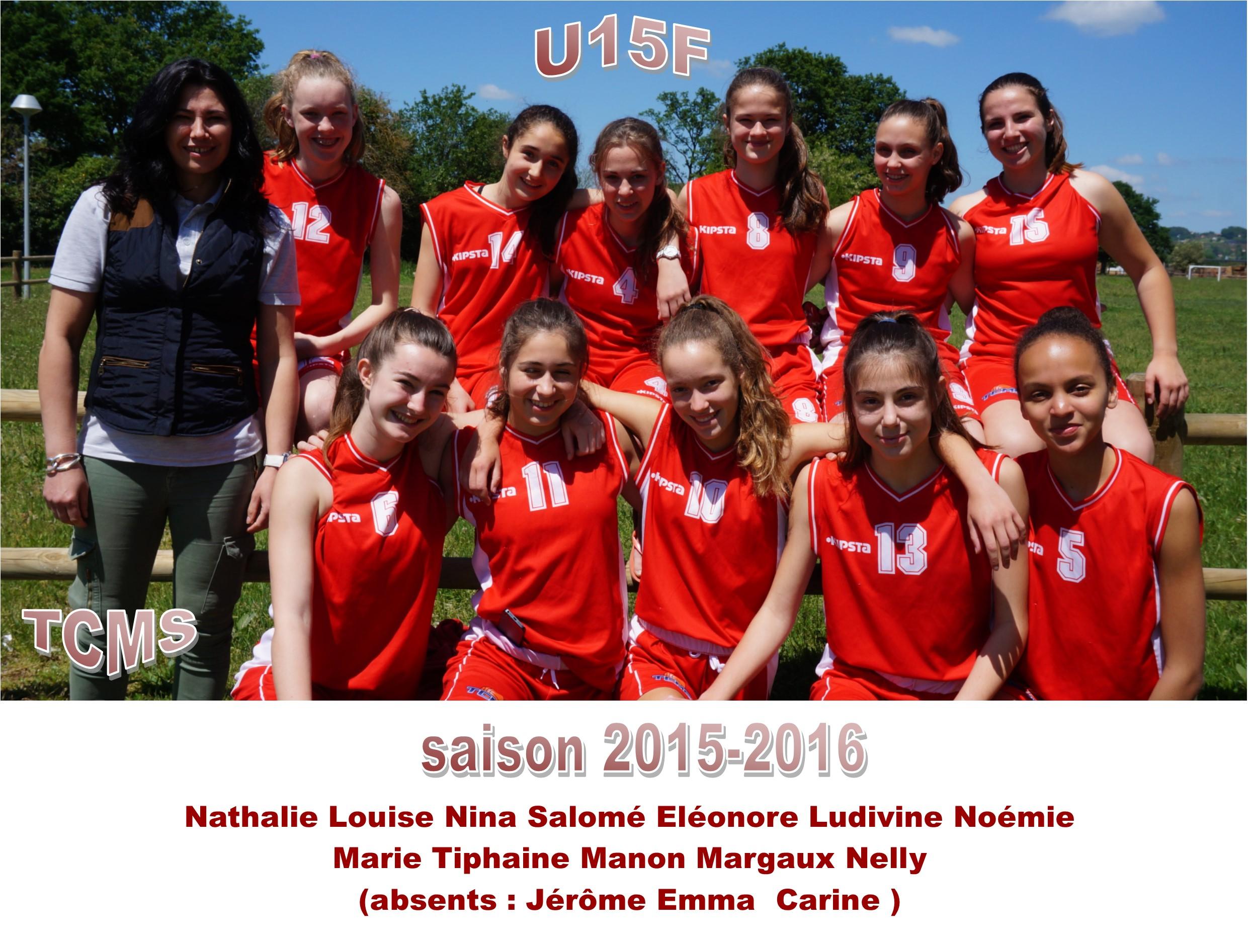 Photo d'équipe U15F / Saison 2015-2016